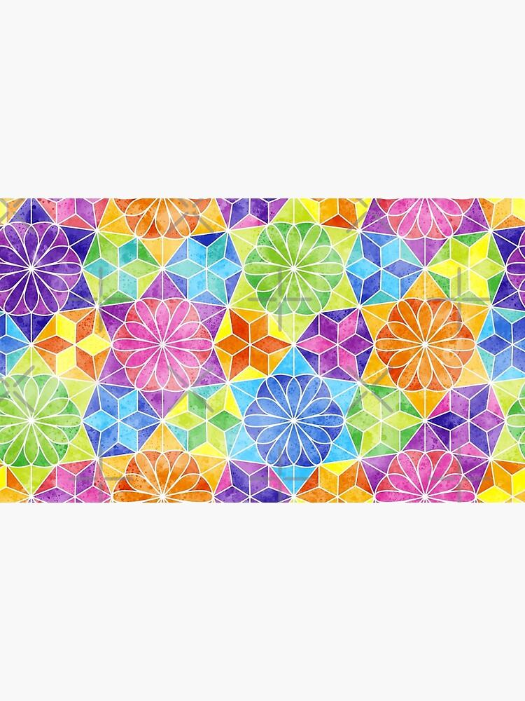 Rainbow mandala kaleidoscope by nobelbunt
