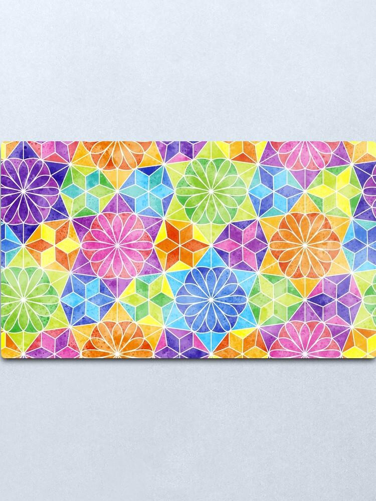 Alternate view of Rainbow mandala kaleidoscope Metal Print