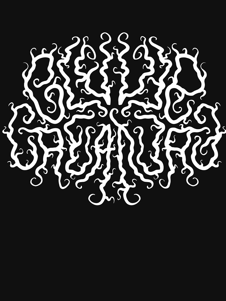 Death Metal Logo - White by clevercreature