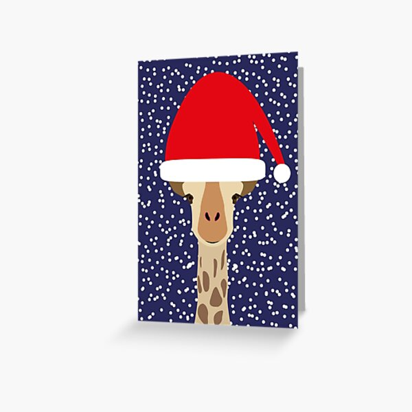 NDVH Christmas Giraffe Greeting Card