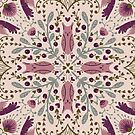 Whimsical tile in pink by Gaia Marfurt