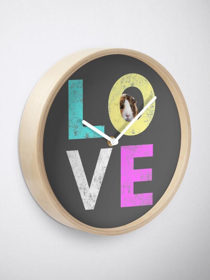 Alternate view of Funny & Cute Guinea Pig lover design Clock