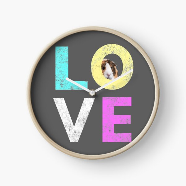Funny & Cute Guinea Pig lover design Clock