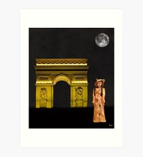 Paris fasion Art Print