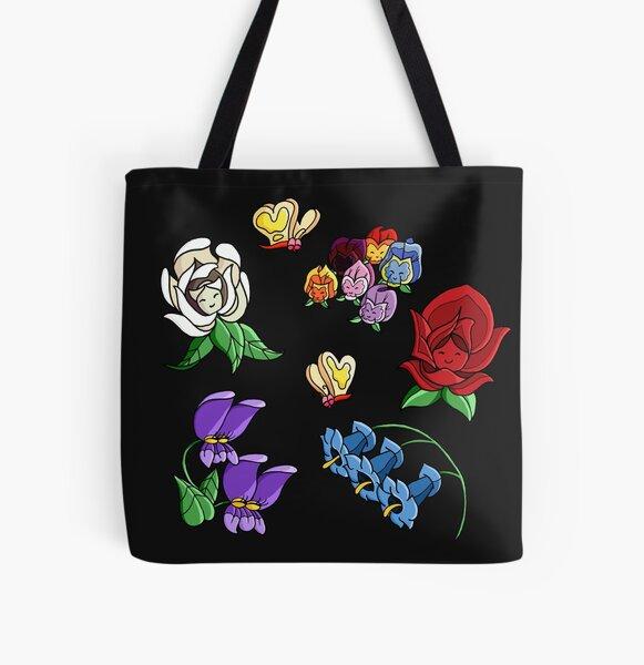 Flores de las maravillas Bolsa estampada de tela