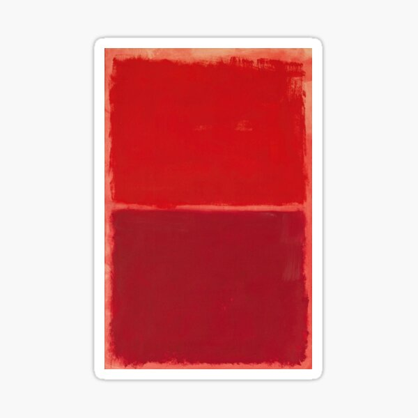 Mark Rothko - Red Painting (Abstract Expressionist Painting / Art) Sticker