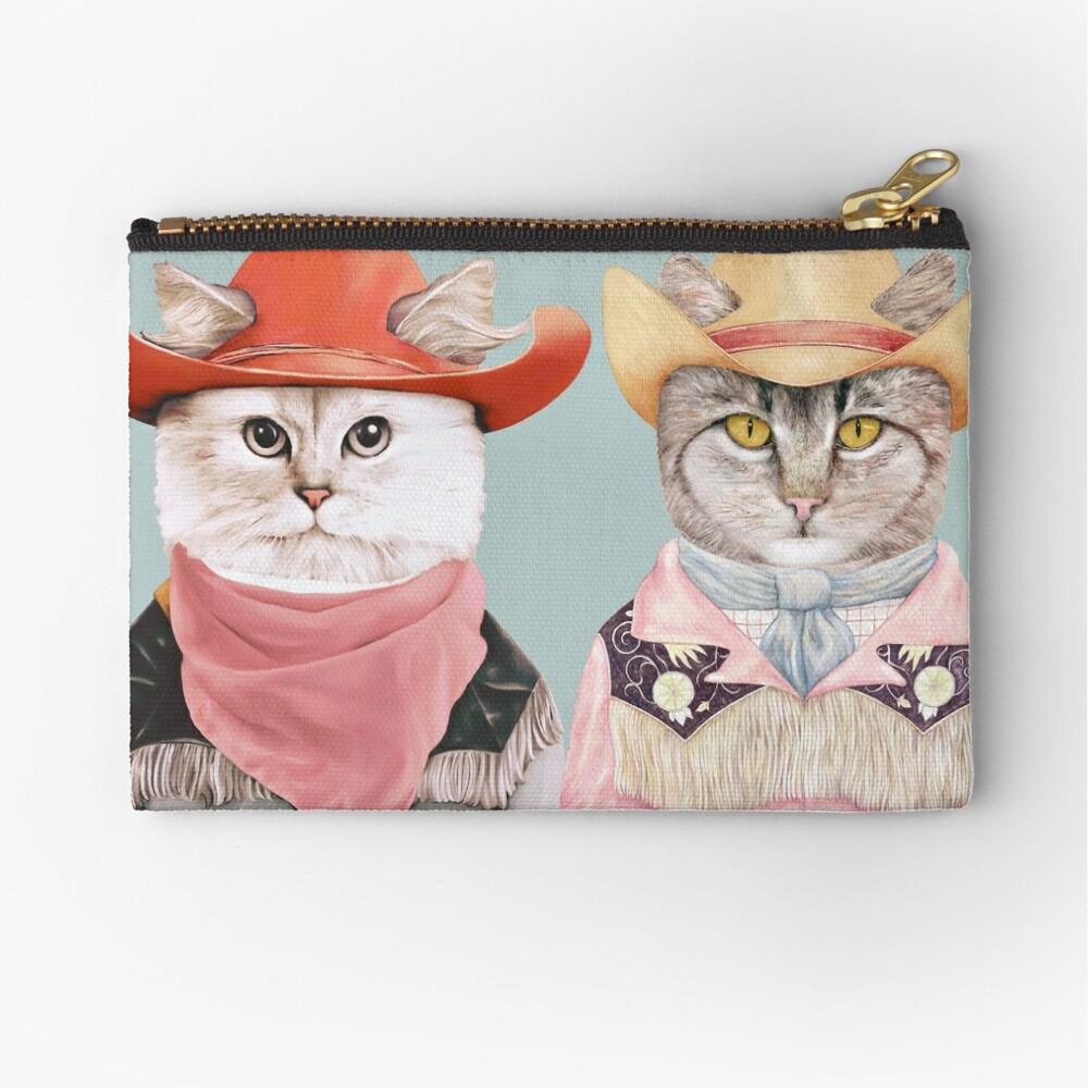 Cowboy Cats Zipper Pouch