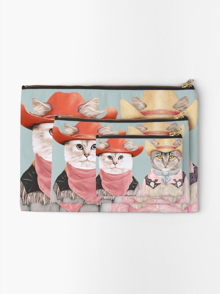Alternate view of Cowboy Cats Zipper Pouch