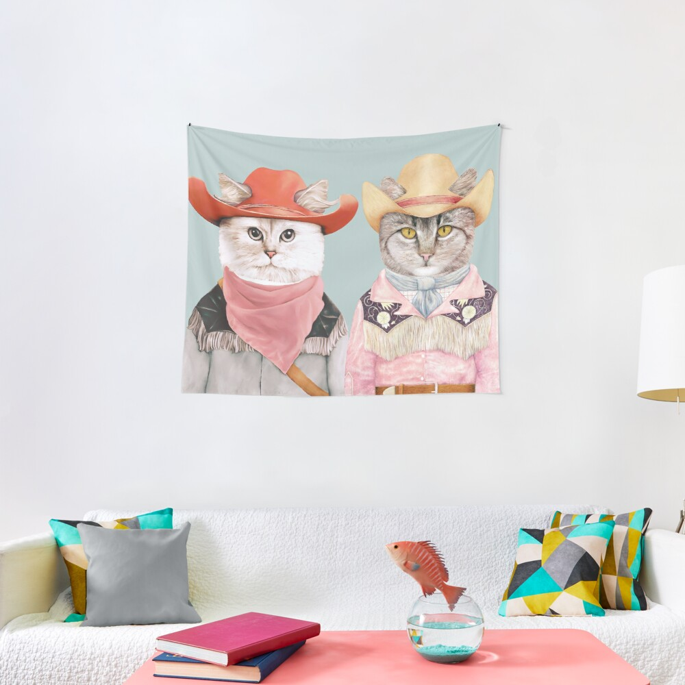 Cowboy Cats Tapestry