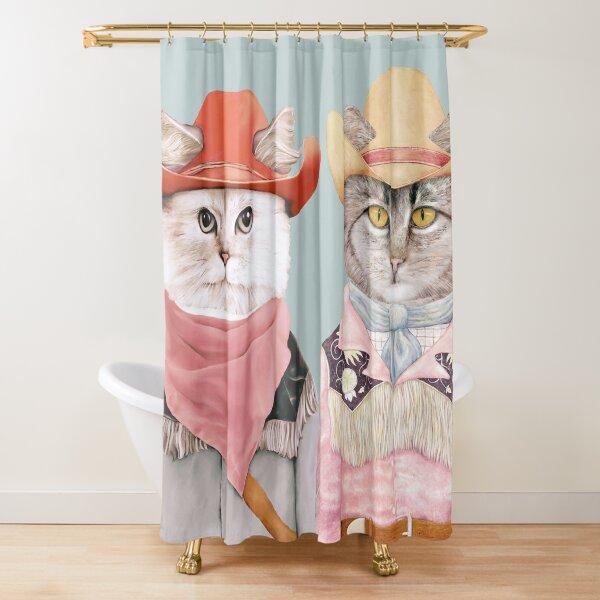 Cowboy Cats Shower Curtain