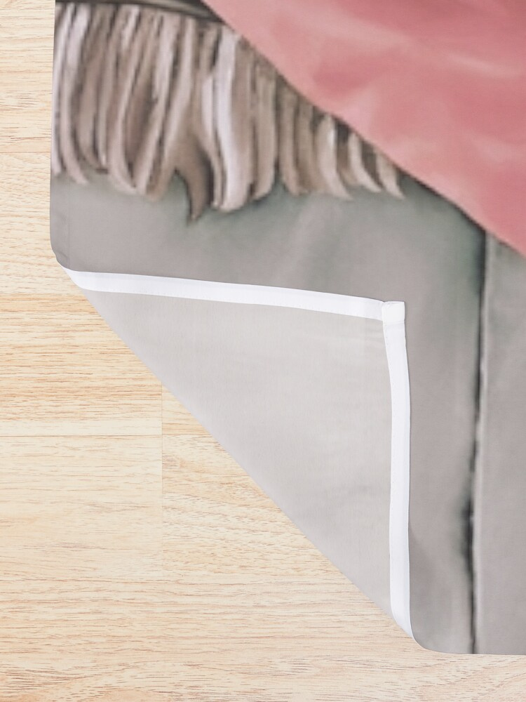 Alternate view of Cowboy Cats Shower Curtain