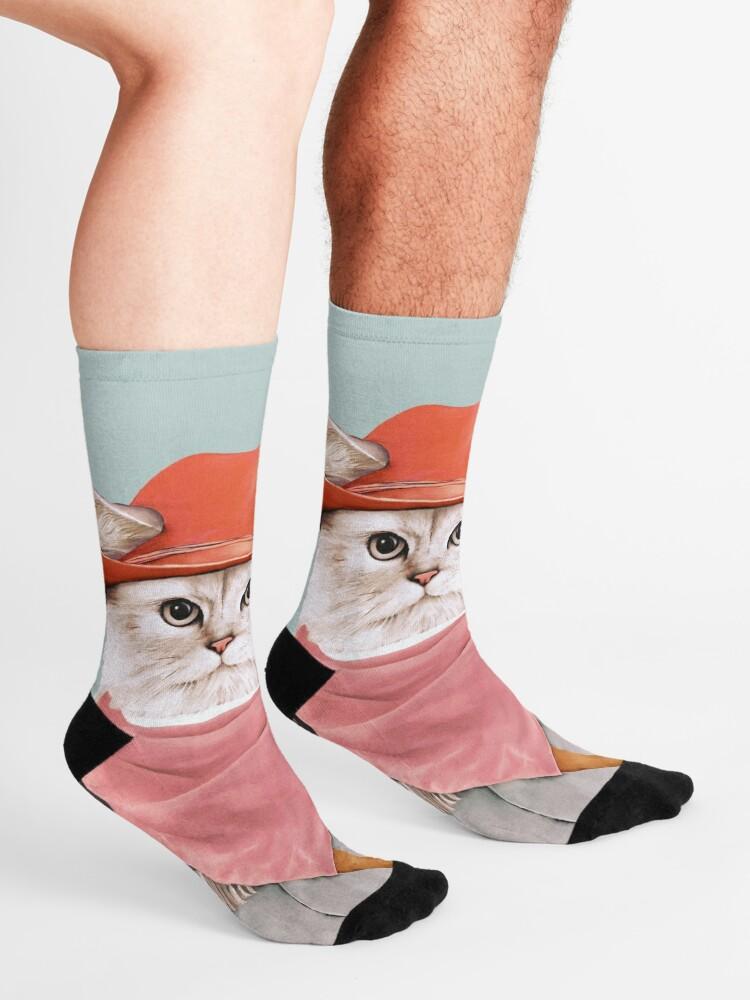 Alternate view of Cowboy Cats Socks