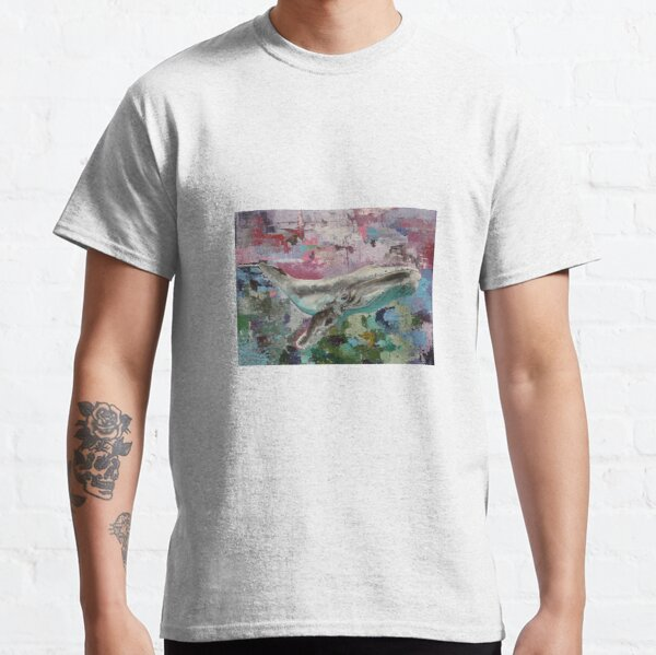 Humpback whale on abstract background Classic T-Shirt