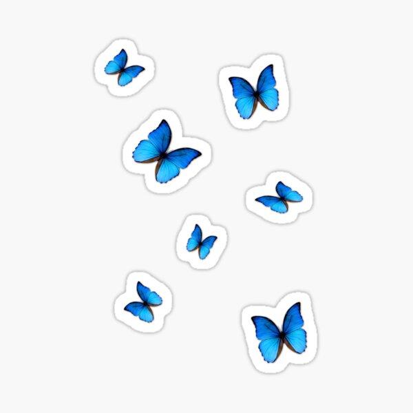 vsco blue butterflies Sticker
