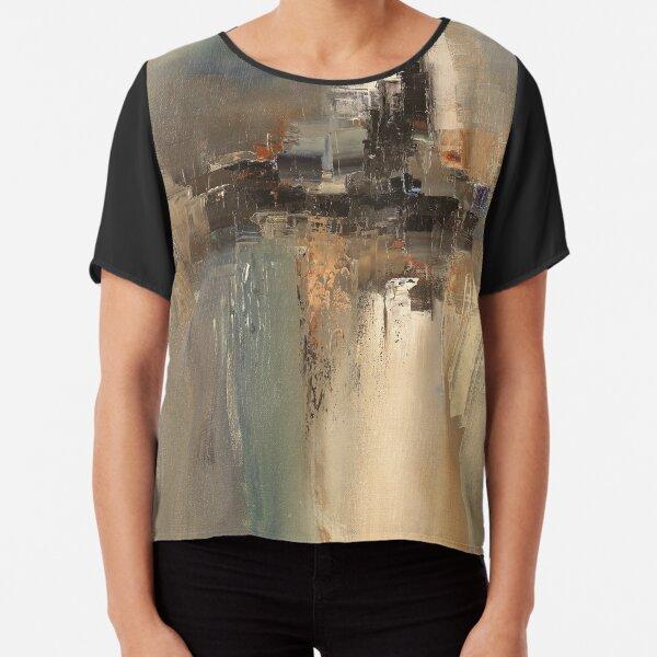 Rainy day through window abstract art Chiffon Top