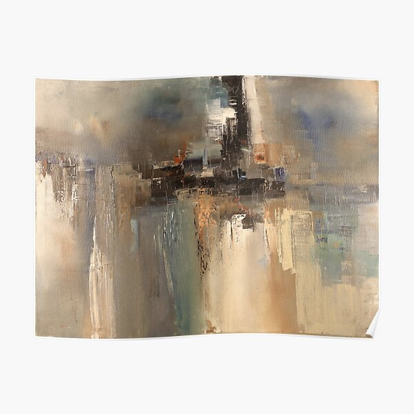 Rainy day through window abstract art Poster