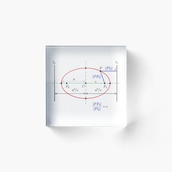 Diagram, Graph, Science, Research, Design, Geometry, Ellipse, Line, Curve, Distance, Size, Ratio Acrylic Block
