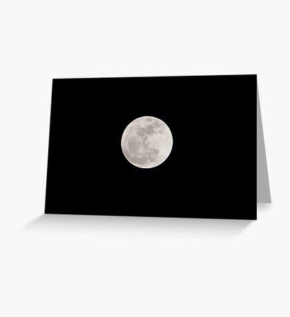Supermoon Rises Greeting Card