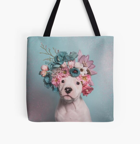 Flower Power, Salty All Over Print Tote Bag
