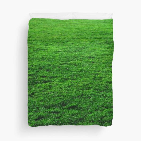 GREEN GREEN GRASS. LAWN. PITCH. Duvet Cover