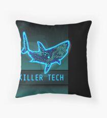 Killer Tech - Circuit board Shark Throw Pillow