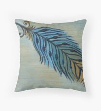Tri Color Feather Throw Pillow