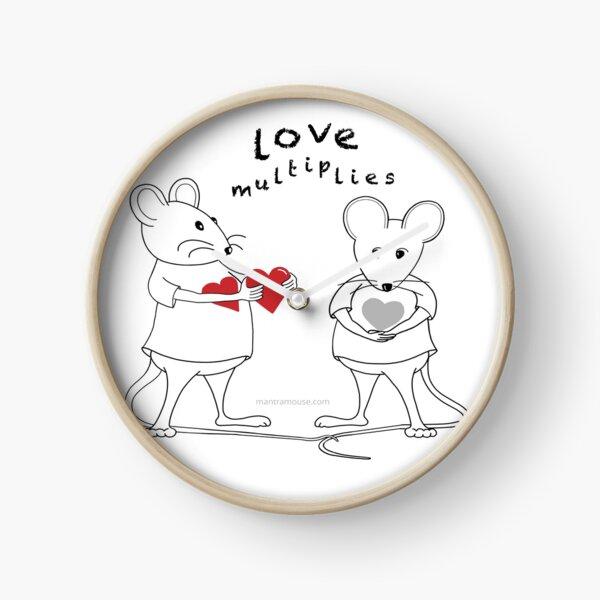 MantraMouse® Love Multiplies Cartoon Clock