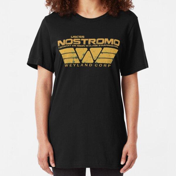 USCSS Nostromo Yellow  Slim Fit T-Shirt