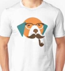 Cute Beagle Dog Hipster Animal With Pipe T-Shirt