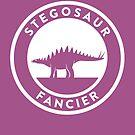 Stegosaur Fancier Print by David Orr