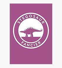 Stegosaur Fancier Print Photographic Print