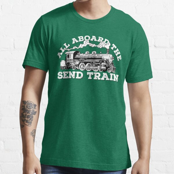 All Aboard of the Send Train - Climbing Pun Essential T-Shirt