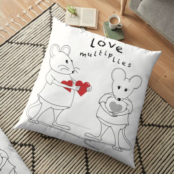 MantraMouse® Love Multiplies Cartoon Floor Pillow