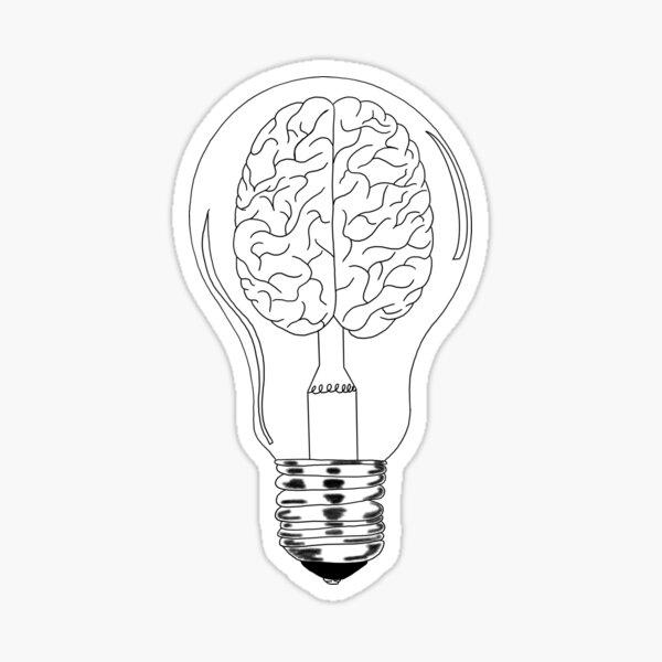 Brain lightbulb Sticker