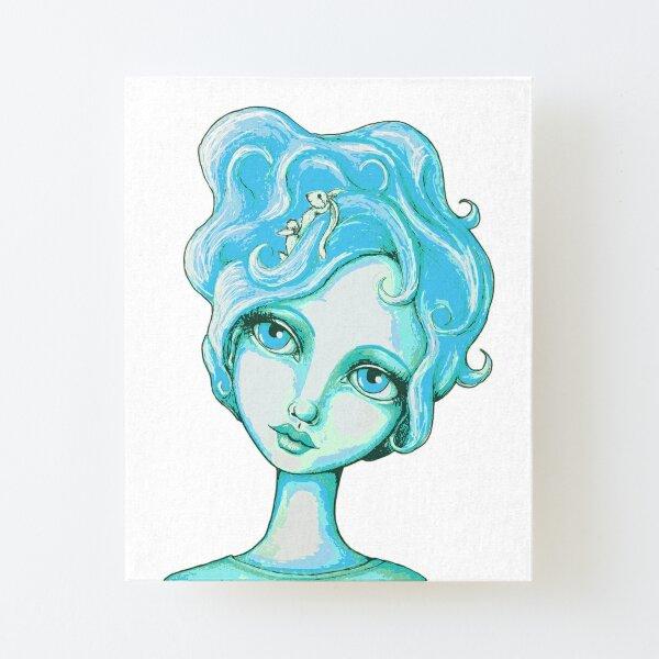 Bunny Bouffant (Cyan Version) Canvas Mounted Print
