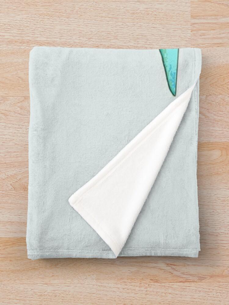 Alternate view of Bunny Bouffant (Cyan Version) Throw Blanket