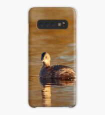 Little grebe in brownish reflections Case/Skin for Samsung Galaxy