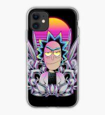 Synthwave Rick Sanchez iPhone Case