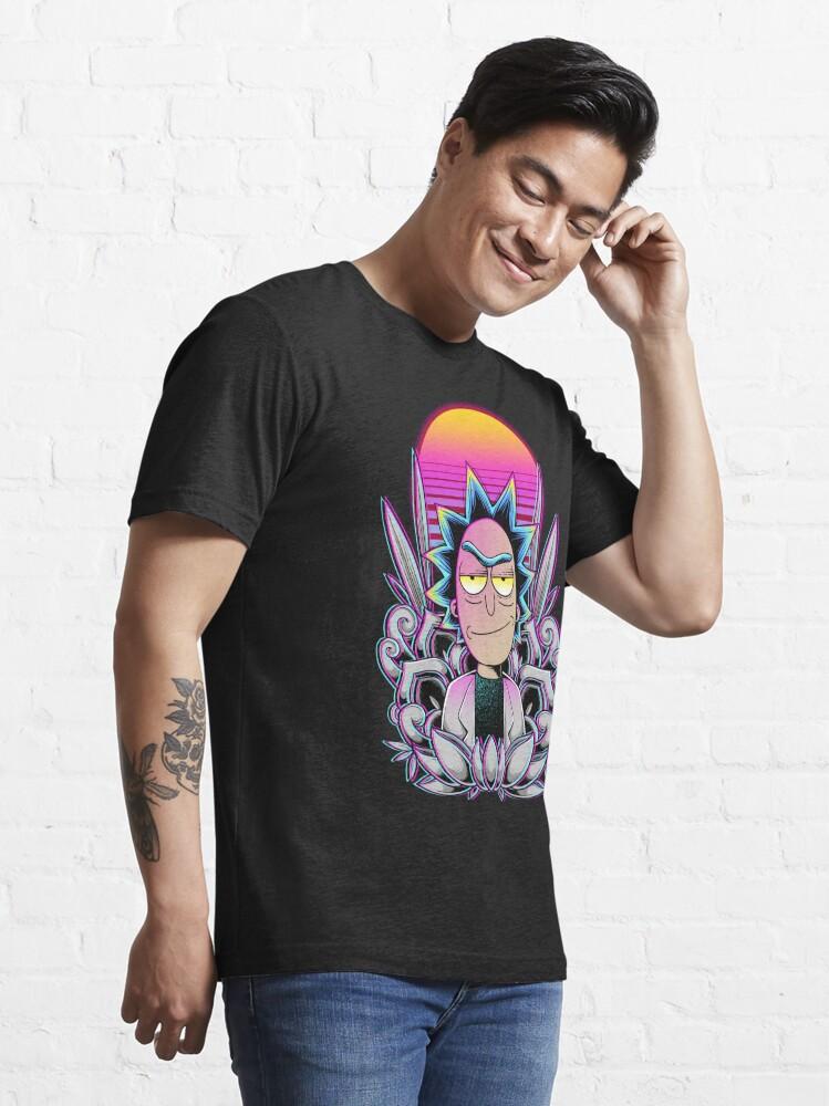 Alternate view of Synthwave Rick Sanchez Essential T-Shirt