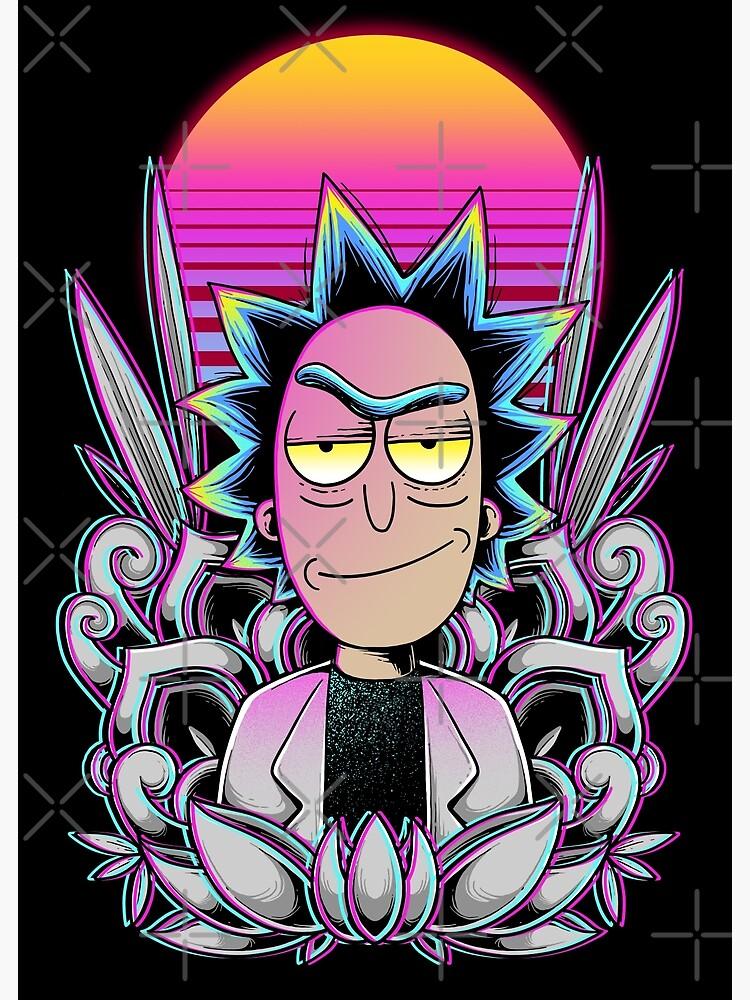 Synthwave Rick Sanchez by GODZILLARGE