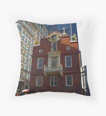 Old State House , Boston, Massachusetts Throw Pillow