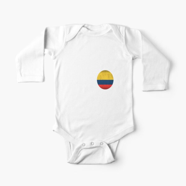Cute Colombian Flag Heart Colombian Flag Onesie Colombia Baby Bodysuit
