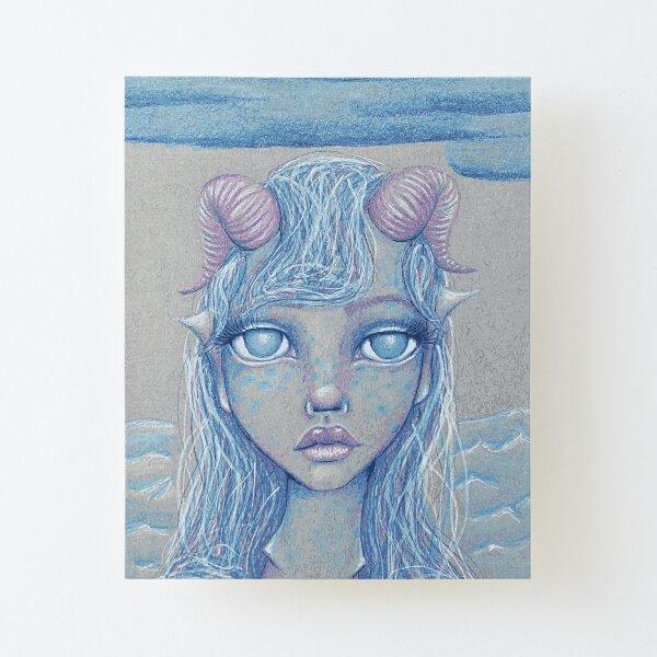 Mermaid of the Deep Canvas Mounted Print