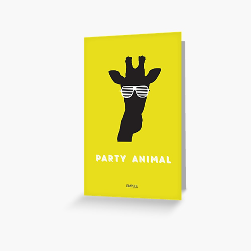 Simplee Cards: Party Animal 3 of 3 Greeting Card