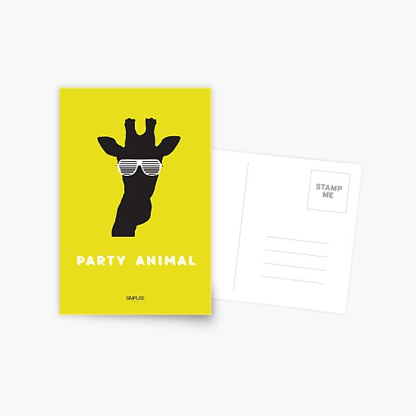 Simplee Cards: Party Animal 3 of 3 Postcard