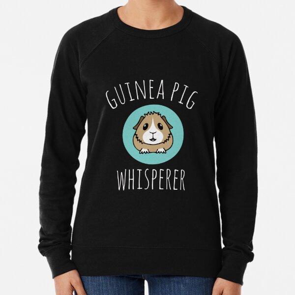 Cute Guinea Pig Whisperer gift design Lightweight Sweatshirt