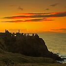 Sunset at Dunluce Castle, N.Ireland. by Fred Taylor