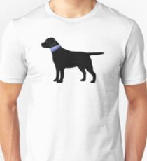 Black Labrador Retriever Preppy Silhouette T-Shirt
