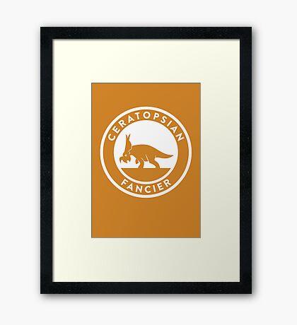 Ceratopsian Fancier Print Framed Print