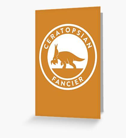 Ceratopsian Fancier Print Greeting Card